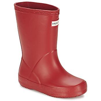 Scarpe Unisex bambino Stivali da pioggia Hunter KIDS FIRST CLASSIC Rosso