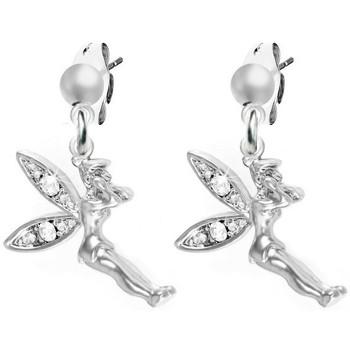 Montres & Bijoux Femme Boucles d'oreilles Sc Crystal BS-CH0167-SE008-BLANC Argenté