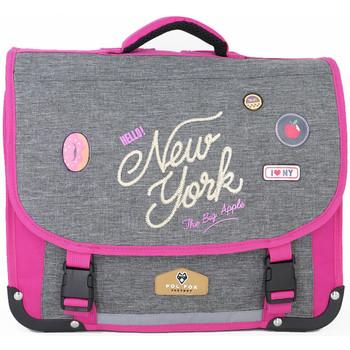 Sacs Enfant Cartables Pol Fox Cartable  ref_ca38 New-York Rose 38*14*30 rose