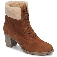 Schuhe Damen Low Boots André BOHEME Kamel