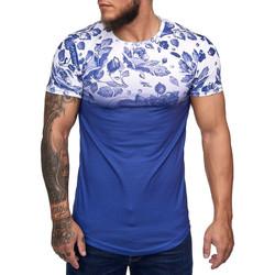 Vêtements Homme T-shirts manches courtes Cabin T-shirt homme fleurie T-shirt 1366 bleu Bleu