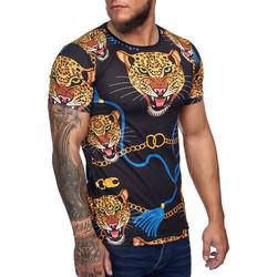 Vêtements Homme T-shirts manches courtes Cabin T-shirt homme fashion T-shirt 1380 noir Noir