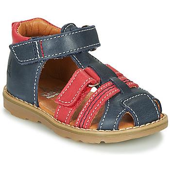 Chaussures Garçon Sandales et Nu-pieds GBB MACARON VTE MARINE-ROUGE DPF/TRONY