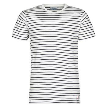 Kleidung Herren T-Shirts Yurban KINO Marineblau / Weiß