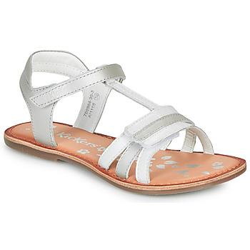 Chaussures Fille Sandales et Nu-pieds Kickers DIAMANTO BLANC