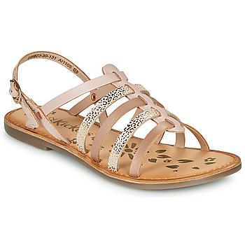 Chaussures Fille Sandales et Nu-pieds Kickers DIXON ROSE LEOPARD