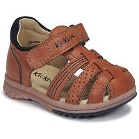 Schuhe Jungen Sandalen / Sandaletten Kickers PLATIBACK Kamel