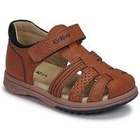 Chaussures Garçon Sandales et Nu-pieds Kickers PLATIBACK CAMEL