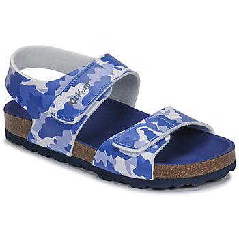 Chaussures Garçon Sandales et Nu-pieds Kickers SUMMERKRO BLEU CAMOUFLAGE