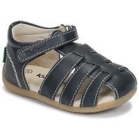Chaussures Garçon Sandales et Nu-pieds Kickers BIGFLO-3 MARINE FONCE