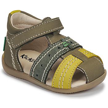 Chaussures Enfant Sandales et Nu-pieds Kickers BIGBAZAR-3 VERT TRICOLORE