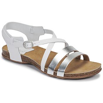 Chaussures Femme Sandales et Nu-pieds Kickers ANATOMIUM BLANC ARGENT METAL
