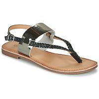 Chaussures Femme Sandales et Nu-pieds Kickers ESTHERA NOIR ETAIN