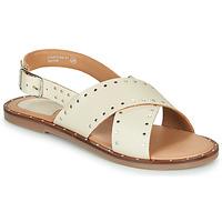 Chaussures Femme Sandales et Nu-pieds Kickers KICLA BLANC CASSE