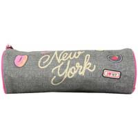 Sacs Fille Trousses Pol Fox Trousse  New York Gris / Rose 1 compartiment Multicolor