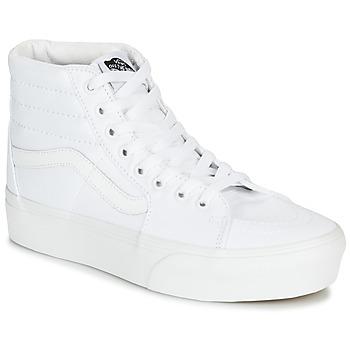 Chaussures Femme Baskets montantes Vans SK8-HI PLATFORM 2.0 true white/true white