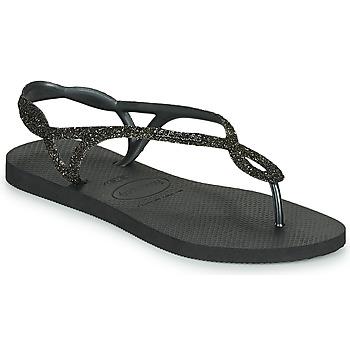 Chaussures Femme Tongs Havaianas LUNA PREMIUM BLACK