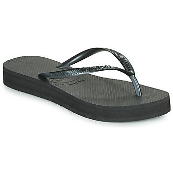 Chaussures Femme Tongs Havaianas SLIM FLATFORM BLACK