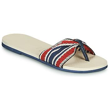 Chaussures Femme Tongs Havaianas YOU SAINT TROPEZ FITA BEIGE