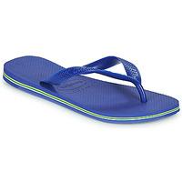 Chaussures Tongs Havaianas BRASIL MARINE BLUE