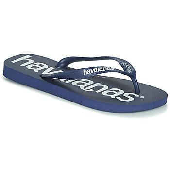 Chaussures Tongs Havaianas TOP LOGOMANIA NAVY BLUE