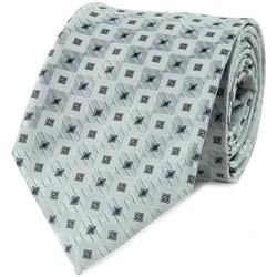 Vêtements Homme Cravates et accessoires Dandytouch Cravate damier Gris