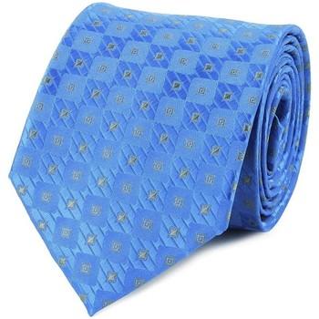 Vêtements Homme Cravates et accessoires Dandytouch Cravate damier Bleu