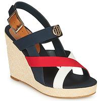 Schuhe Damen Sandalen / Sandaletten Tommy Hilfiger BASIC HARDWARE HIGH WEDGE SANDAL