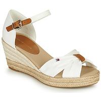 Schuhe Damen Sandalen / Sandaletten Tommy Hilfiger BASIC OPENED TOE MID WEDGE