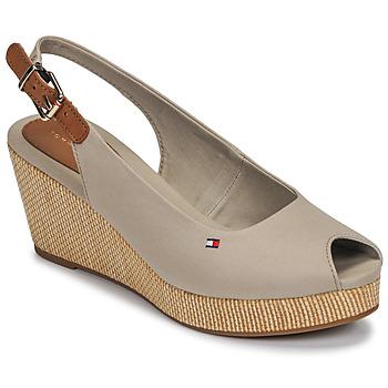 Schuhe Damen Sandalen / Sandaletten Tommy Hilfiger ICONIC ELBA SLING BACK WEDGE Maulwurf