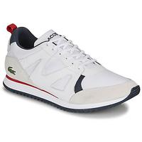 Chaussures Homme Baskets basses Lacoste AESTHET 120 2 SMA Blanc / Bleu / Rouge