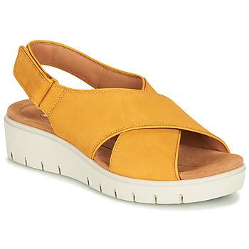 Chaussures Femme Sandales et Nu-pieds Clarks UN KARELY SUN Yellow