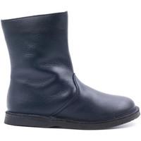Chaussures Enfant Bottes ville Boni & Sidonie Boots fourrées en laine de mouton - CLOVIS Bleu Marine