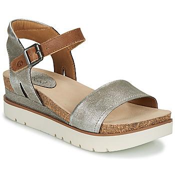 Schuhe Damen Sandalen / Sandaletten Josef Seibel CLEA 01 Silbrig