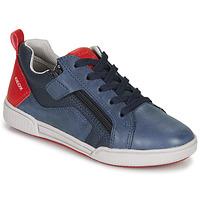 Chaussures Garçon Baskets basses Geox J POSEIDO BOY NAVY/DK RED