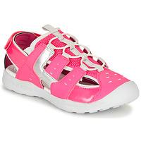 Chaussures Fille Sandales sport Geox J VANIETT GIRL FUCHSIA/SILVER