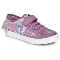 Chaussures Fille Baskets basses Geox JR CIAK GIRL Frozen