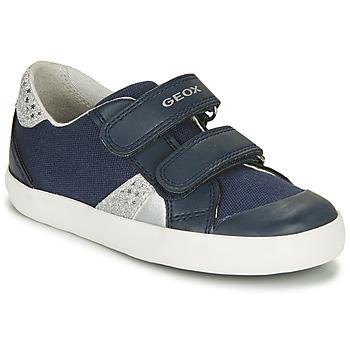 Chaussures Garçon Baskets basses Geox B GISLI GIRL NAVY/SILVER