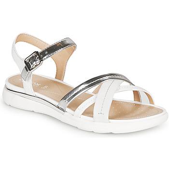 Chaussures Femme Sandales et Nu-pieds Geox D SANDAL HIVER SILVER/WHITE