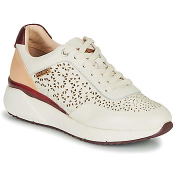 Schuhe Damen Sneaker Low Pikolinos SELLA W6Z Weiß / Bordeaux