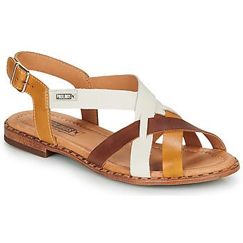 Chaussures Femme Sandales et Nu-pieds Pikolinos ALGAR W0X Cognac / Blanc / Jaune