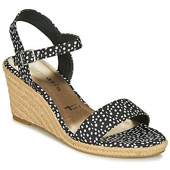 Chaussures Femme Sandales et Nu-pieds Tamaris LIVIA Noir / Blanc