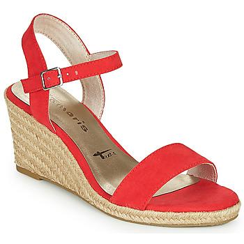 Chaussures Femme Sandales et Nu-pieds Tamaris LIVIA Rouge