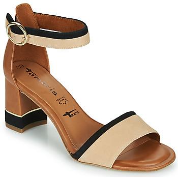 Chaussures Femme Sandales et Nu-pieds Tamaris DALINA COGNAC COMB