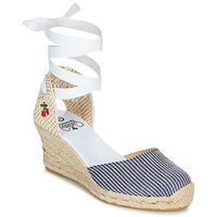 Schuhe Damen Sandalen / Sandaletten Le Temps des Cerises POLY Blau / Weiß