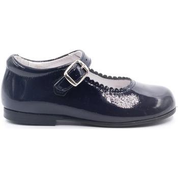 Chaussures Fille Ballerines / babies Boni & Sidonie Babies en cuir vernis à boucles - LOUISE Vernis Bleu