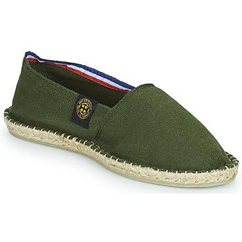 Schuhe Leinen-Pantoletten mit gefloch Art of Soule UNI Khaki