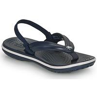 Schuhe Kinder Zehensandalen Crocs CROCBAND STRAP FLIP K Marineblau