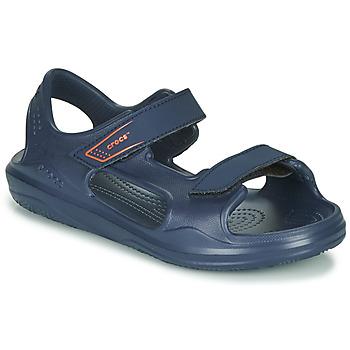Chaussures Enfant Sandales sport Crocs SWIFTWATER EXPEDITION SANDAL K Marine