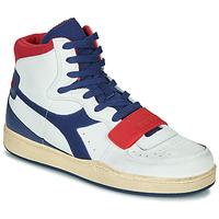 Chaussures Homme Baskets montantes Diadora MI BASKET USED Blanc / bleu / rouge